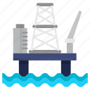 extraction, gaz, oil, oil industry, petrol, platform, sea icon