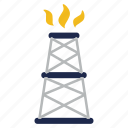 drill, drilling, equipment, extraction, gaz, oil industry, rig icon