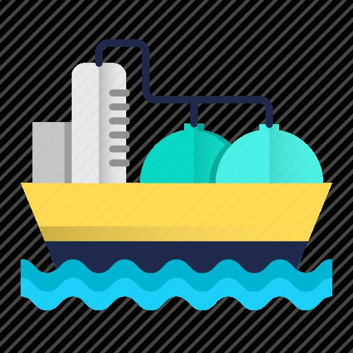 energy, oil, oil industry, sea, tanker icon