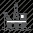 oil, platform, gas, rig, industry, derrick, generation
