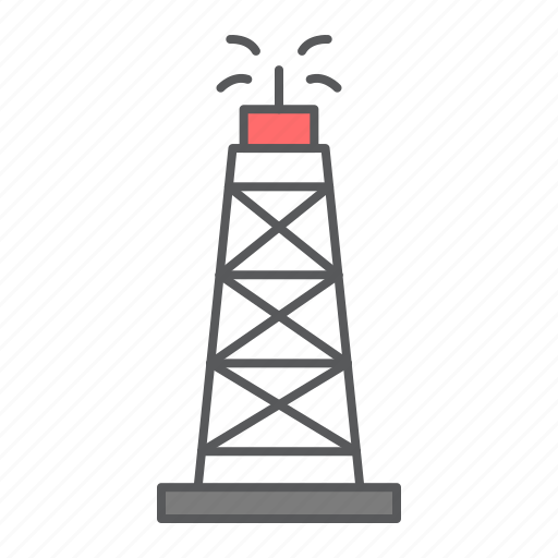 Oil, rig, derrick, fuel, tower, drilling, drill icon - Download on Iconfinder