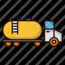 energy, gasoline, petrol, power, transportation, truck icon