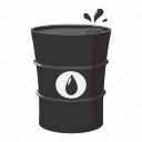 barrel, cartoon, drum, metal, oil, petrol, tank icon