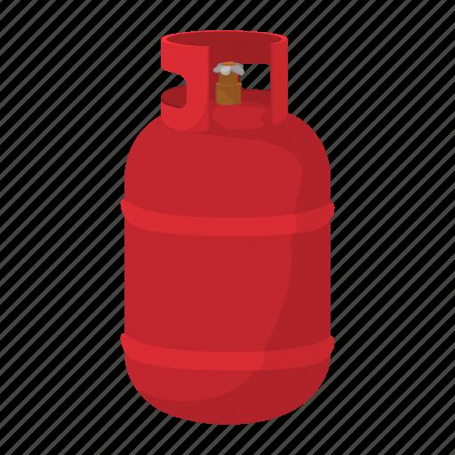 bottle, cartoon, flame, fuel, gas, steel, tank icon