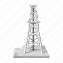 cartoon, derrick, fuel, natural, oil, rig, tower icon