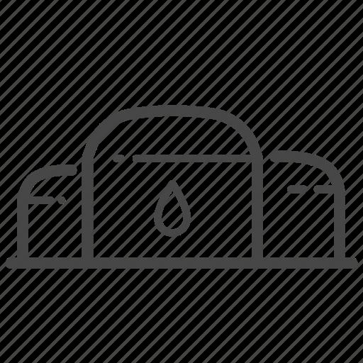 crude oil, depot, fuel, oil, tank farm icon