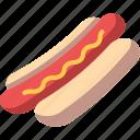 food, hotdog, mustard, sandwich, sausage