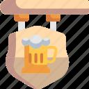 bar, beer, sign, signage, signboard
