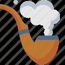pipe, smoke, smoke pipe, smoking, tobacco