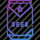 alcohol, beer, beer can, bottle, drink