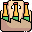 beer, beer box, bottles, box, package icon