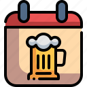 beer, calendar, germany, oktoberfest, time and date icon
