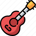 acoustic, music and multimedia, orchestra, instrument, guitar icon