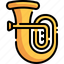 tuba, wind instrument, musical instrument, music, orchestra icon