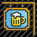 alcoholic, bar, beer, mug, pub, signage, signboard
