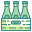 alcohol, beer, beverages, bottle, box, drinks, package icon