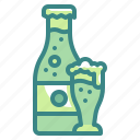 alcohol, beer, beverages, bottle, drink, glass, mug icon