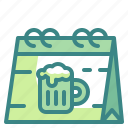 beer, beverages, calendar, celebration, festival, oktoberfest, schedule icon