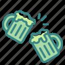 alcohol, beer, beverage, celebration, cheers, drinks, mug icon