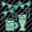 alcohol, beer, beverage, celebration, festival, garlands, oktoberfest icon