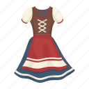 festival, national, female, dress, tradition, clothes icon
