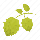 eco, hops, inflorescence, leaf, nature, plant icon