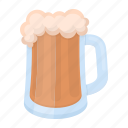 alcohol, beer, drink, foam, glass, mug icon
