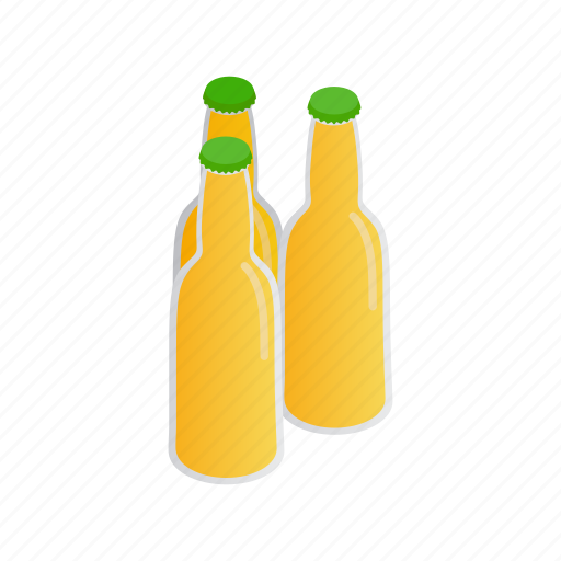 alcohol, beer, cap, cool, isometric, lager, light icon