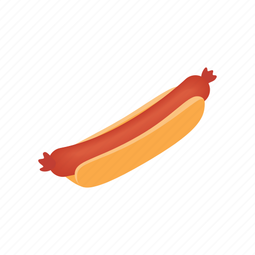cooked, food, isometric, meat, plate, pork, sausage icon