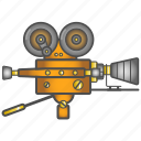 camcorder, colored, equipment, old icon
