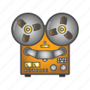 colored, equipment, old, record player icon