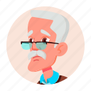 avatar, emotion, face, grandfather, man, old