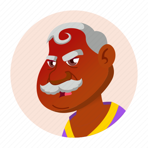 aged, avatar, grandfather, hindu, indian, man, old icon