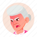 avatar, emotion, face, grandmother, old, woman icon