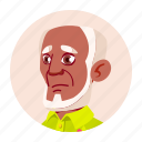 african, avatar, black, grandfather, man, old, people icon