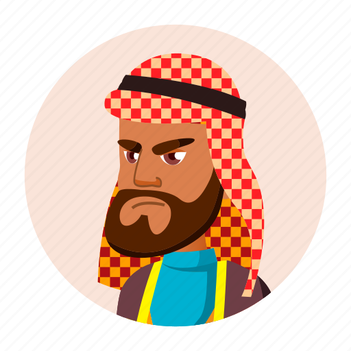 arab, avatar, emotion, grandfather, man, old, people icon