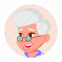 avatar, emotion, expression, face, grandmother, old icon