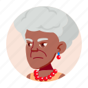 african, avatar, grandmother, old, people, woman icon