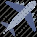 aeroplane, airplane, flight, plane, traveling icon