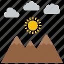 arabian desert, desert landscape, desert mountains, middle east, sunset desert icon