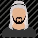 arab, arabian, arabic person, egyptian, male arab icon
