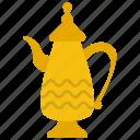 arabic coffee, arabic teapot, coffee pot, dallah, saudi cuisine icon