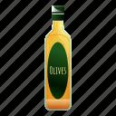 bottle, food, oil, olive, retro, tree