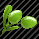 floral, flower, frame, green, olive, tree