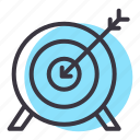archery, arrow, bullseye, games, goal, olympics, target icon