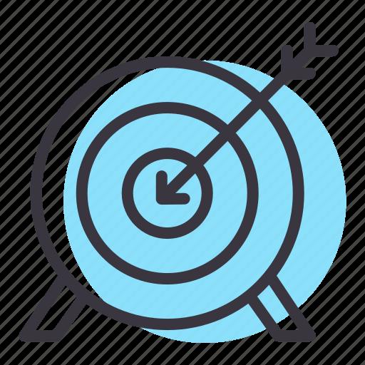 archery, arrow, bullseye, games, goal, olympics, target icon