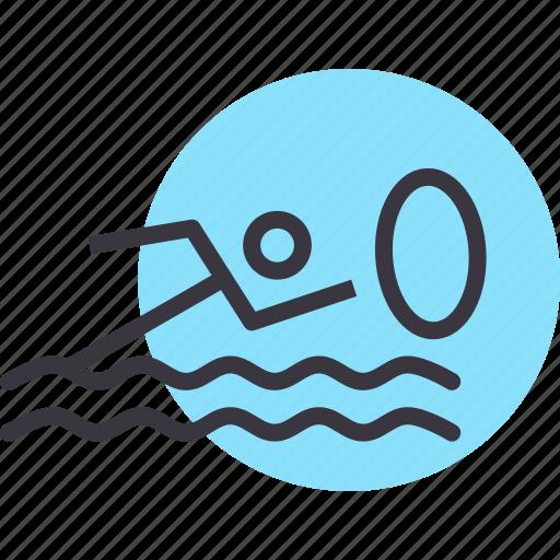 aquatics, games, marathon, olympics, sports, swimming, water icon
