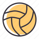 play, ball, volleyball, sports, games, olympics icon