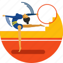 artistic, gymnastics, olympic, rythmic, sports icon, training, woman icon