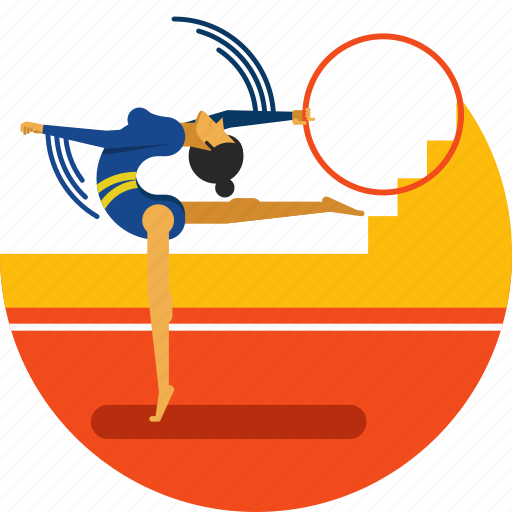 artistic, gymnastics, olympic sport, rythmic, training, woman icon icon